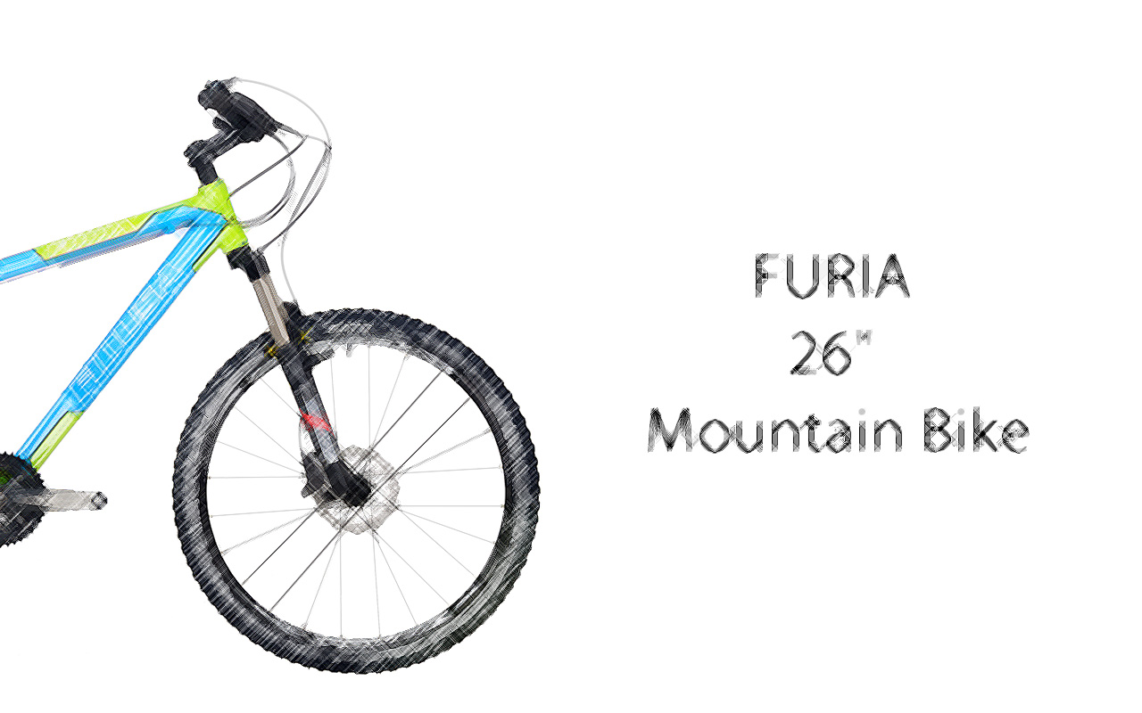 "FURIA-Green-Blue-scetch-ENG FURIA 26"" Mountain Bike"