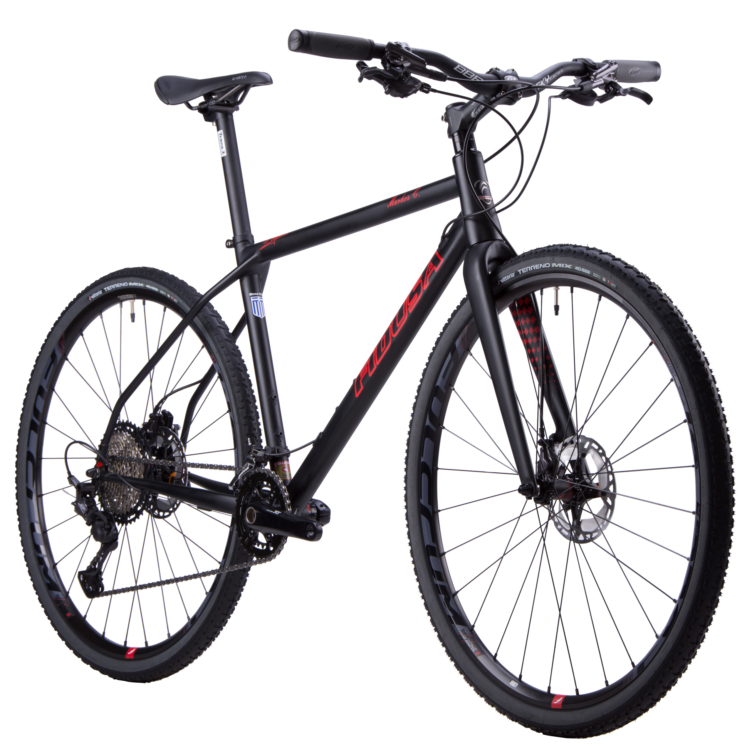 Fidusa-Cr-Mo-trekking-black-red-bike-front Our Bicycles
