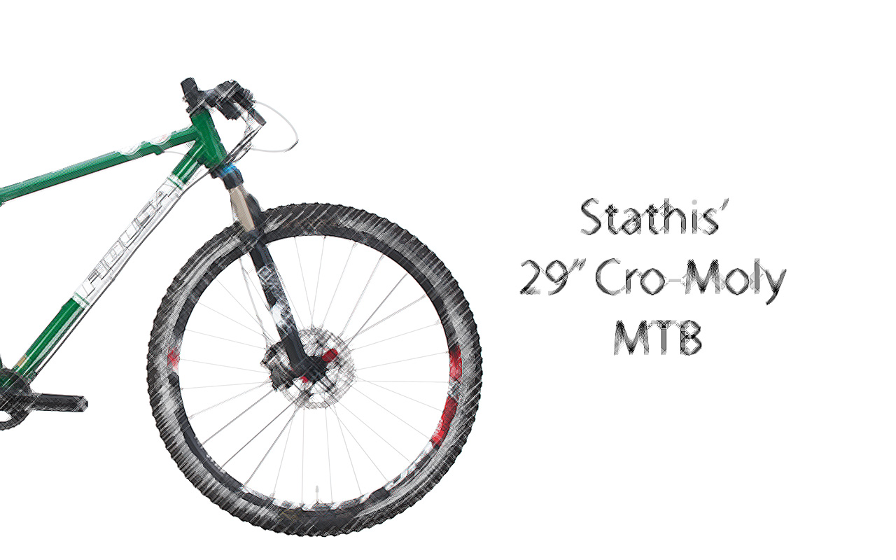 """GREEN-29-BIKE-plane-scetch-ENG Stathis' 29"""" Cro-Moly MTB"""
